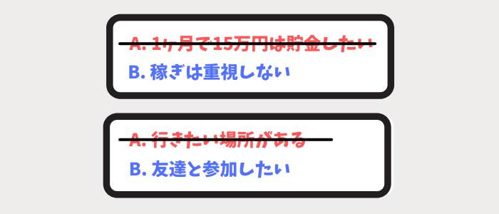 フローチャートB→Bを選択した人
